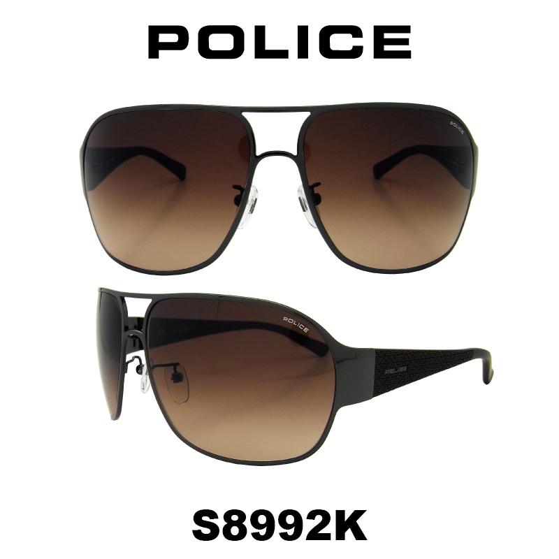 POLICE 【国内正規品】 (ポリス) ドライブ モデル サングラス 人気モデル ティアドロップ S8992K 568X メンズ ポリス UVカット グローバル