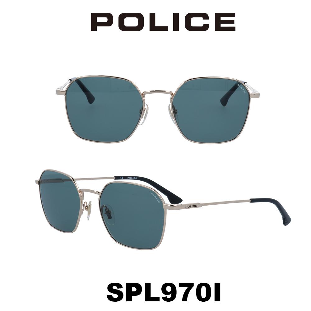 2020年 POLICE (ポリス) サングラス SPL970I 300 ローズゴールド/グリーン 槙野着用モデル