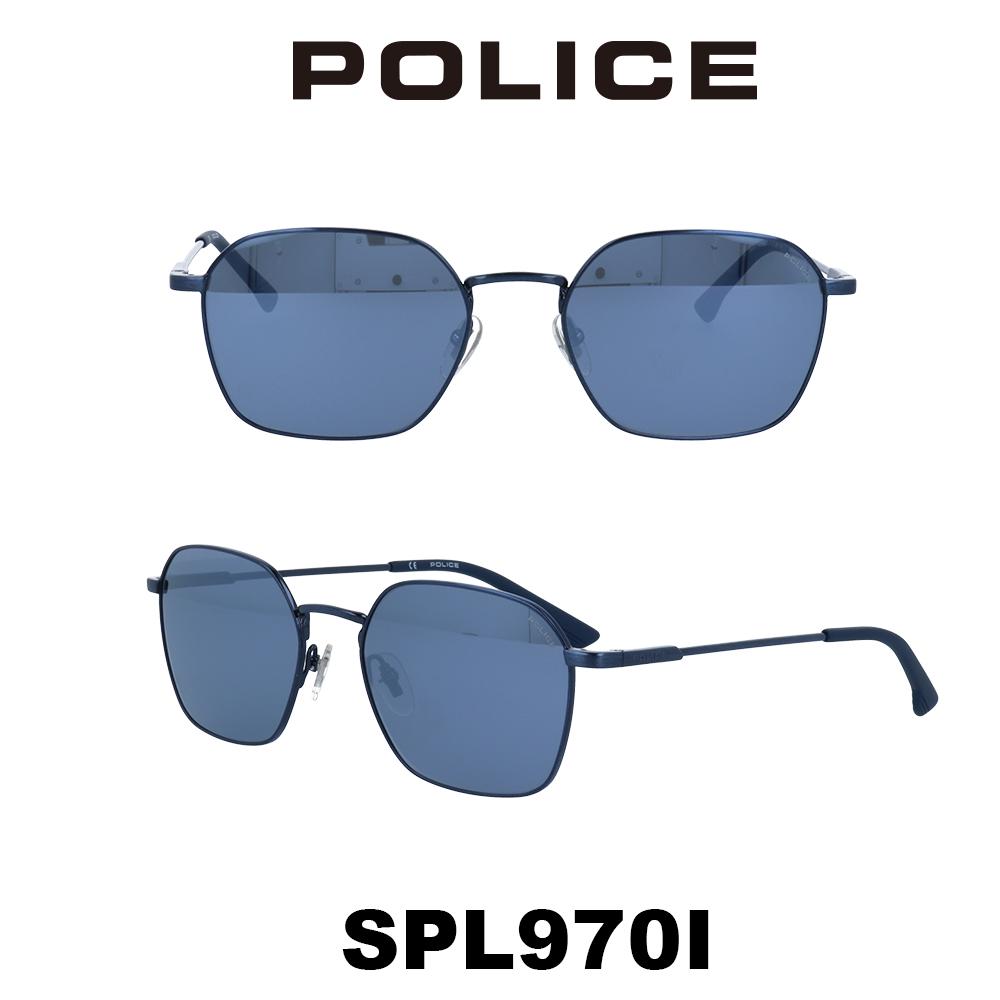 2020年 POLICE (ポリス) サングラス SPL970I 8B6B アンティークブルー/ブルー/シルバーミラー 槙野着用モデル