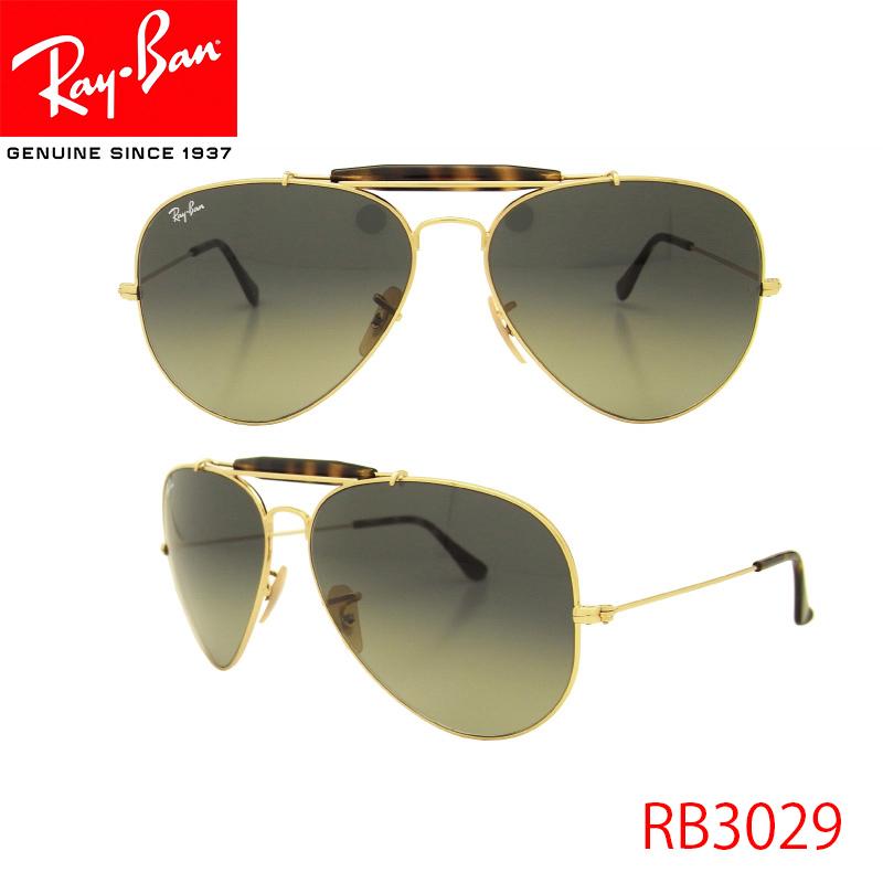 RayBan(レイバン) サングラス RB3029 181/71 62 OUTDOORSMAN アウトドアー メタルフレーム レディース メンズ 保証書付き
