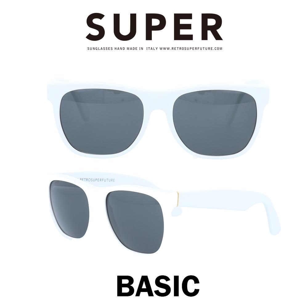 SUPER(スーパー) サングラス ベーシック Basic 001 ホワイト/ブラック