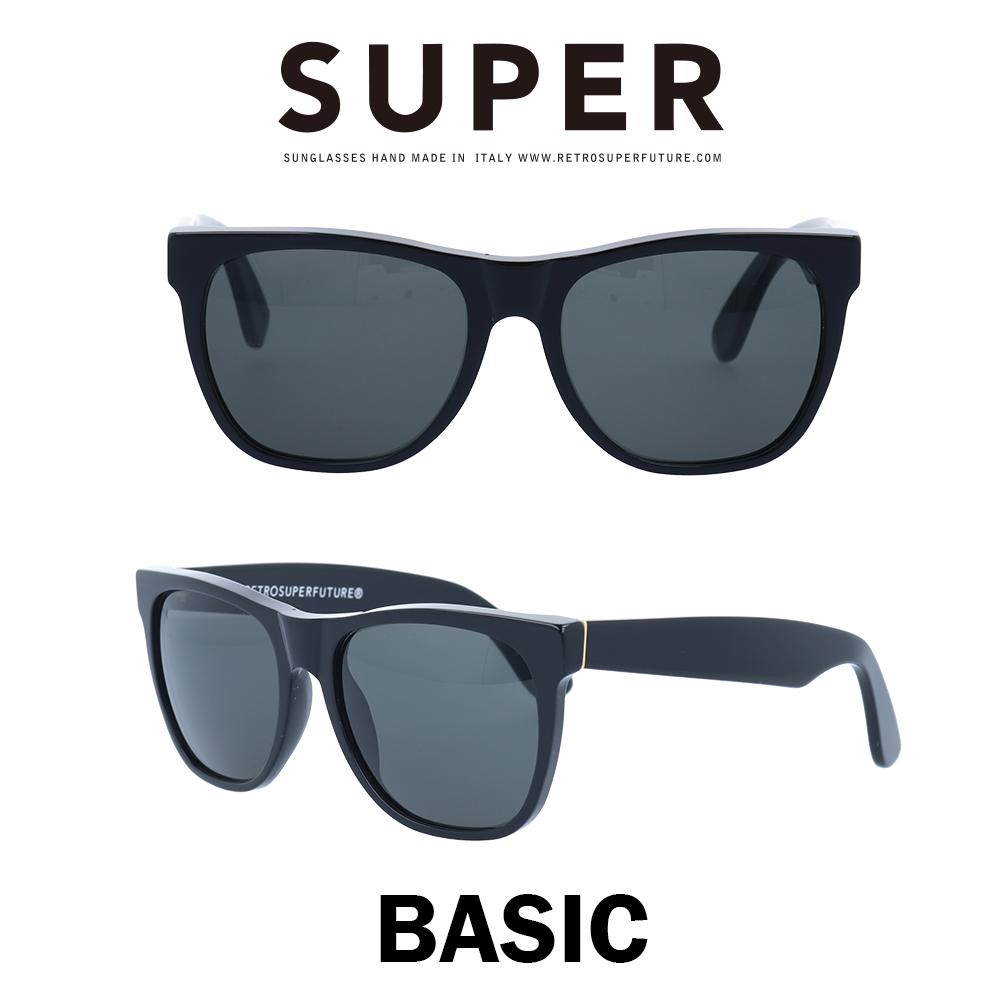 SUPER(スーパー) サングラス ベーシック Basic 002 ブラック/ブラック