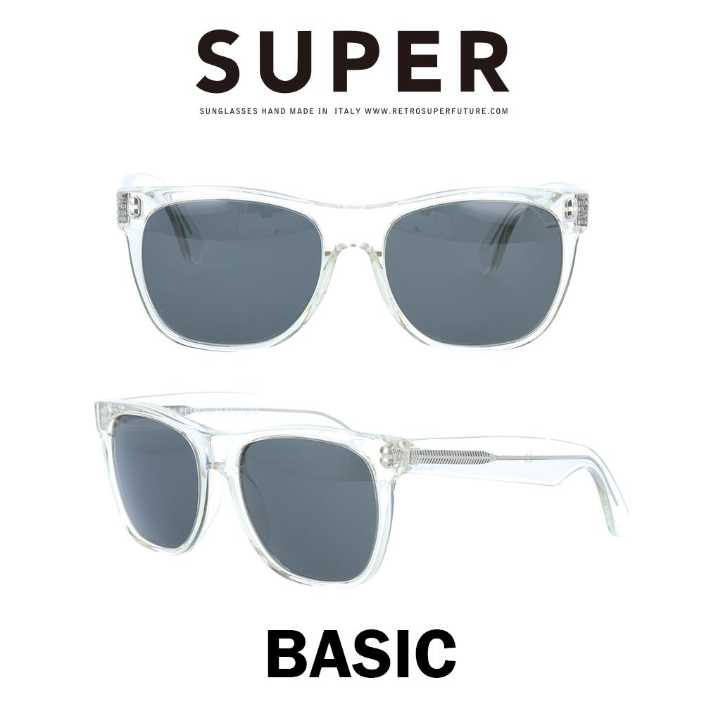 SUPER(スーパー) サングラス ベーシック Basic 015 クリスタル/ブラック