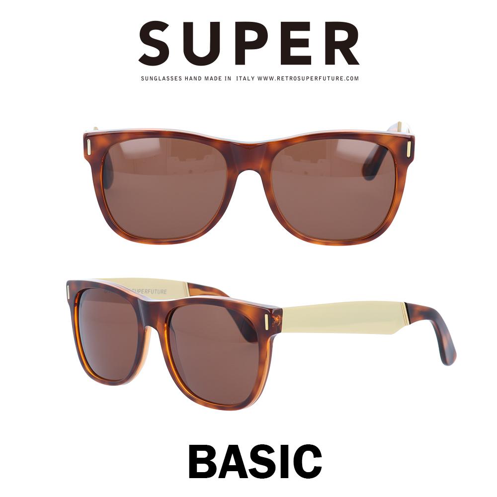 SUPER(スーパー) サングラス ベーシック Basic 364 ハバナ/ゴールドメタル/ブラウン