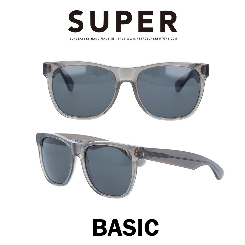 SUPER(スーパー) サングラス ベーシック Basic 411 クリアブラック/ブラック