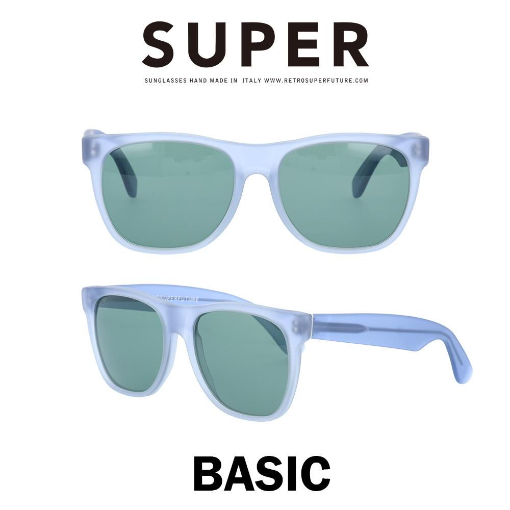 SUPER(スーパー) サングラス ベーシック Basic 565 マットエレクトリック/グリーン