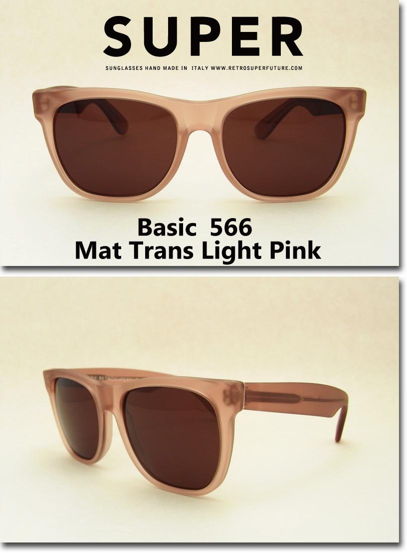 US並行輸入 SUPER Sunglass Basic 566 Mat Trans Light Pink (スーパーサングラス ベーシック マットトランスライトピンク ) スーパーサングラス 通販
