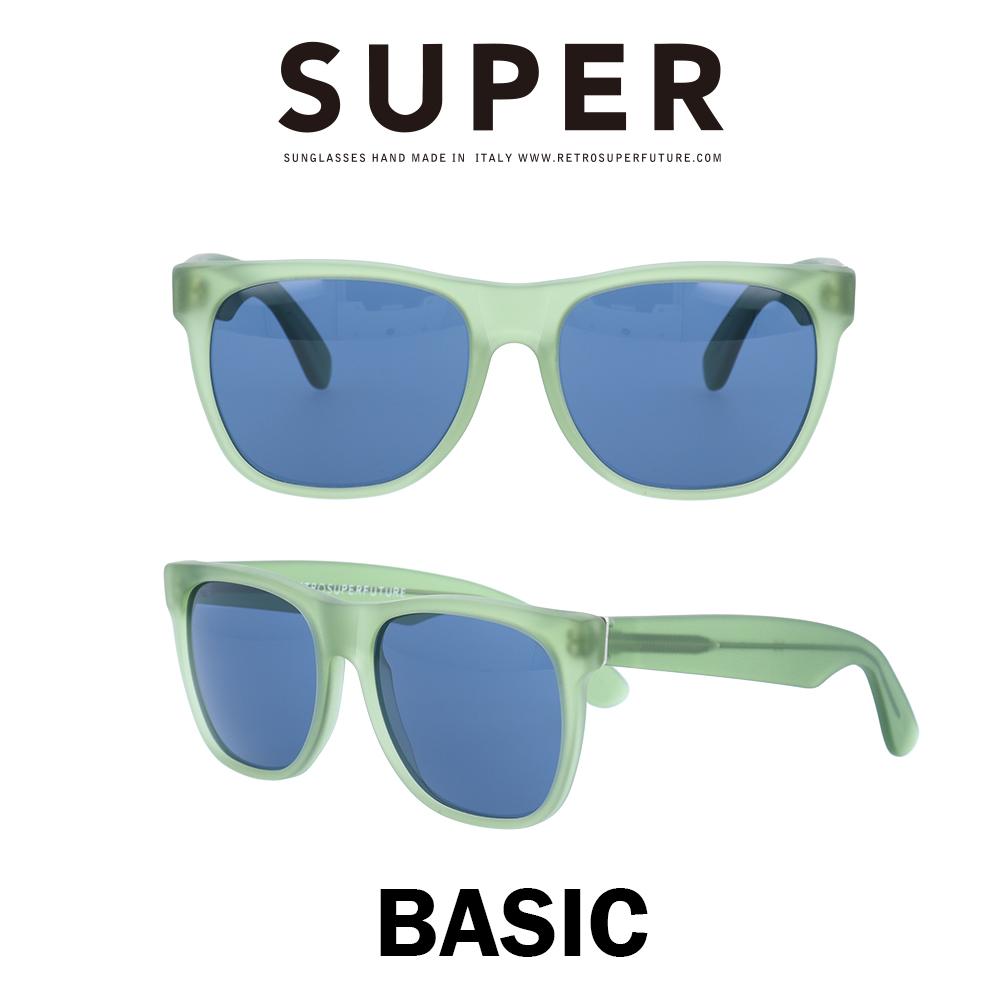 SUPER(スーパー) サングラス ベーシック Basic 567 マットライトグリーン/ブルー