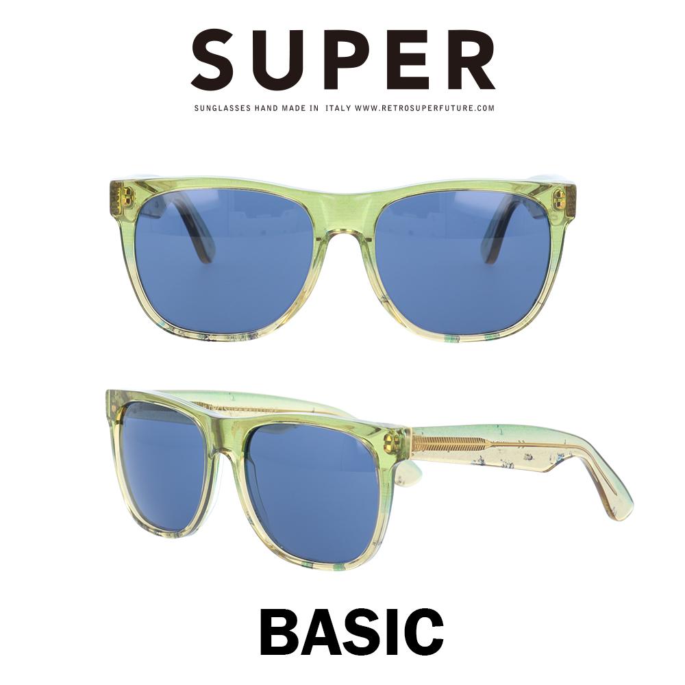 SUPER(スーパー) サングラス ベーシック Basic 859 ライトレジンフロリダ/ブルー