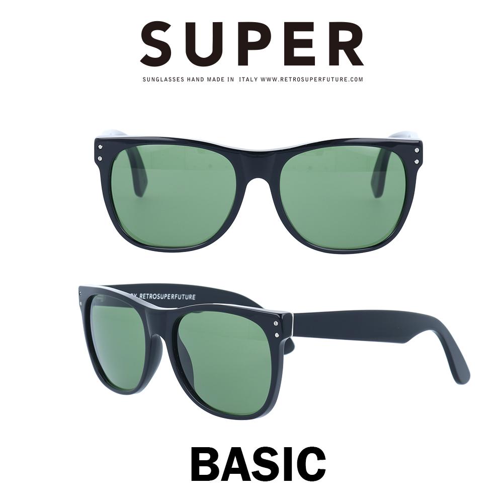 SUPER(スーパー) サングラス ベーシック Basic G8R ブラック/グリーン Vetra (べトラ)