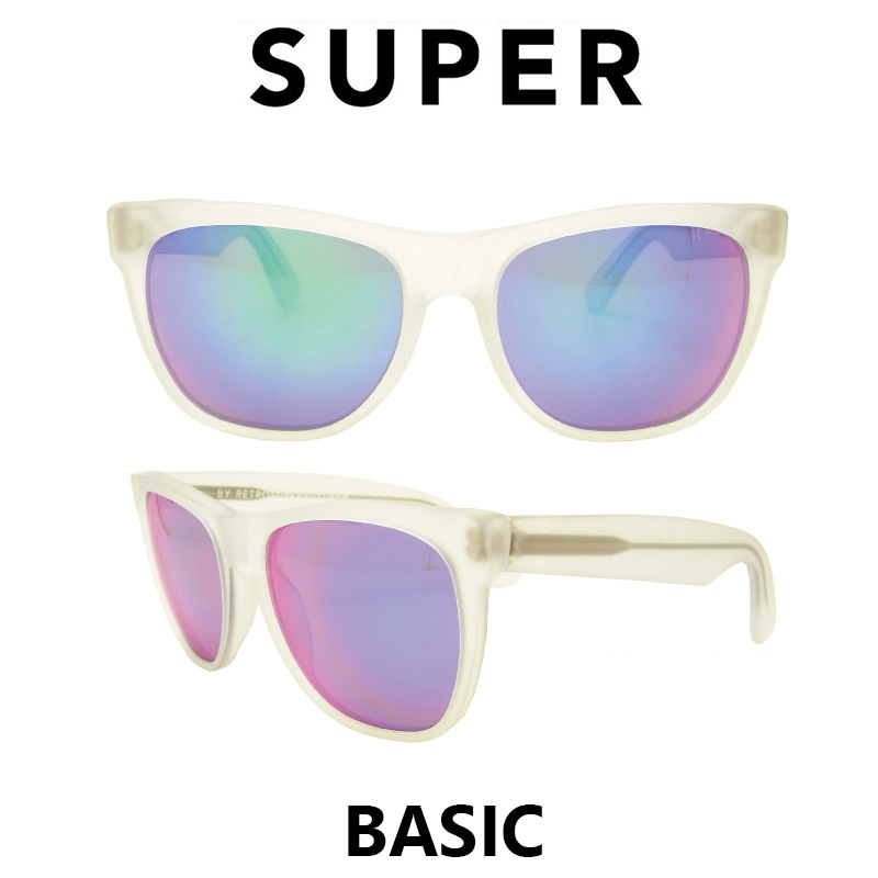 US並行輸入 SUPER Sunglass Basic 168 Crystal Rainbow lens(スーパーサングラス ベーシック クリスタル レインボーレンズ) おしゃれ イタリア スーパーサングラス 通販