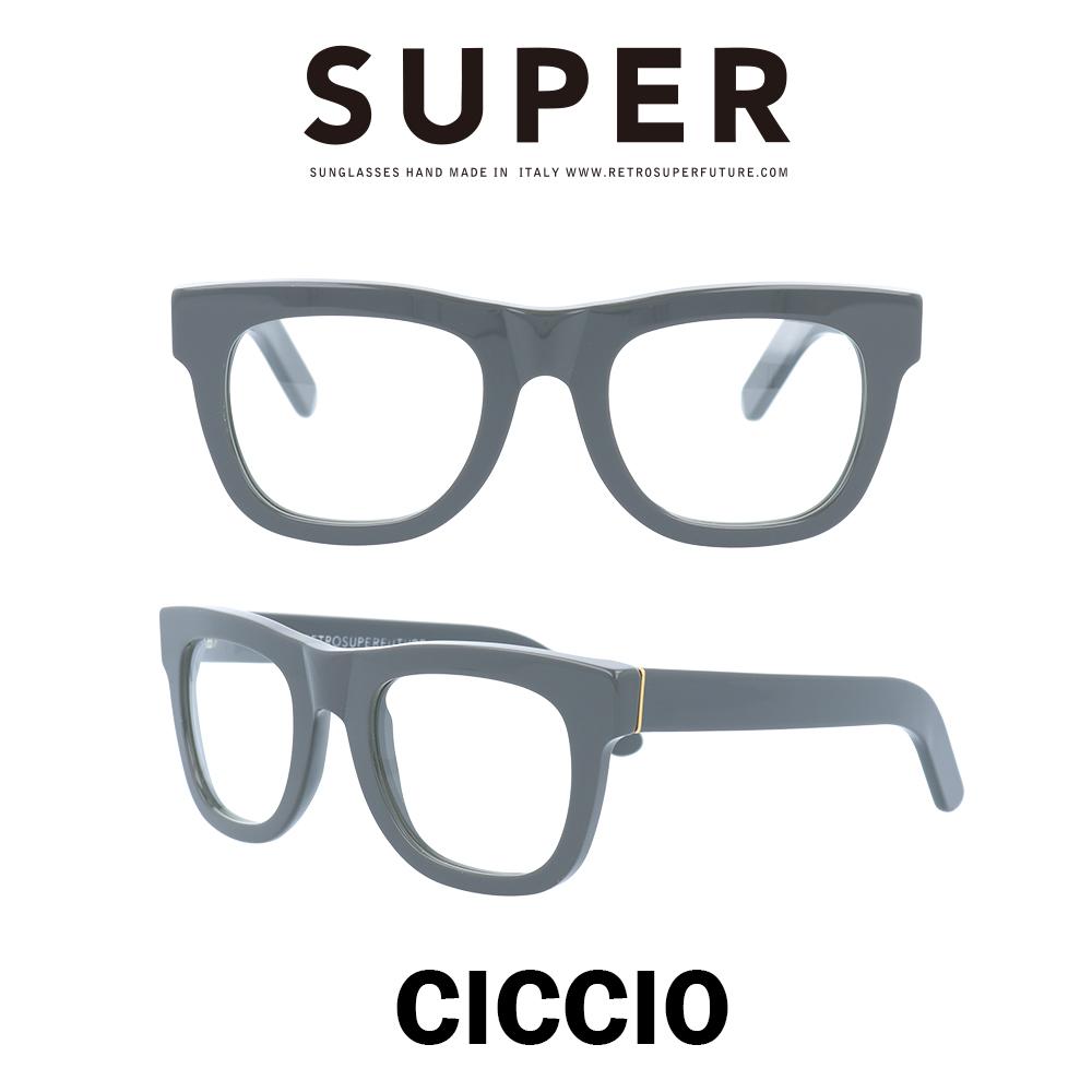SUPER(スーパー) サングラス チッチオ Ciccio 062 グレー/クリアレンズ