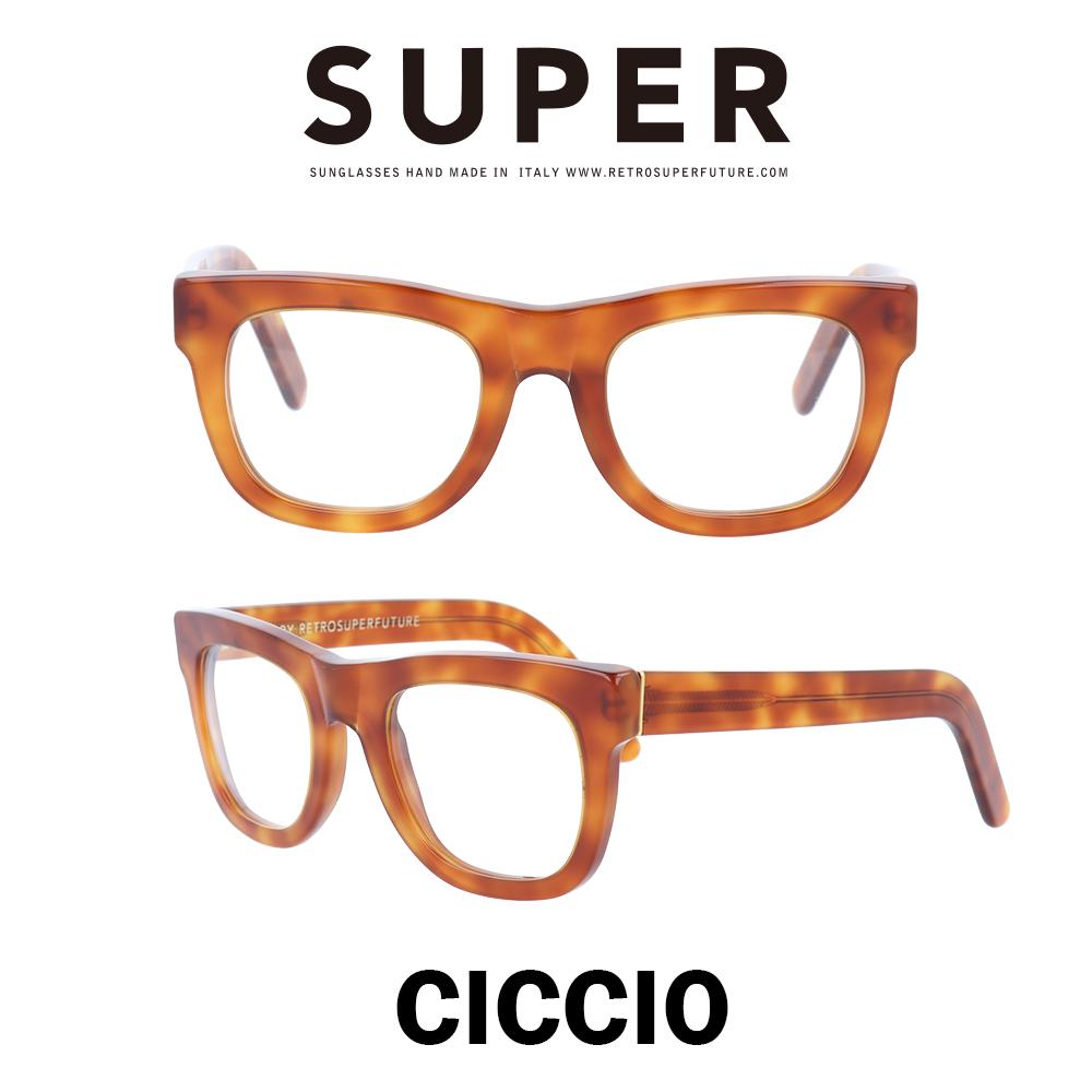 SUPER(スーパー) サングラス チッチオ Ciccio 621 ライトハバナ/クリアレンズ
