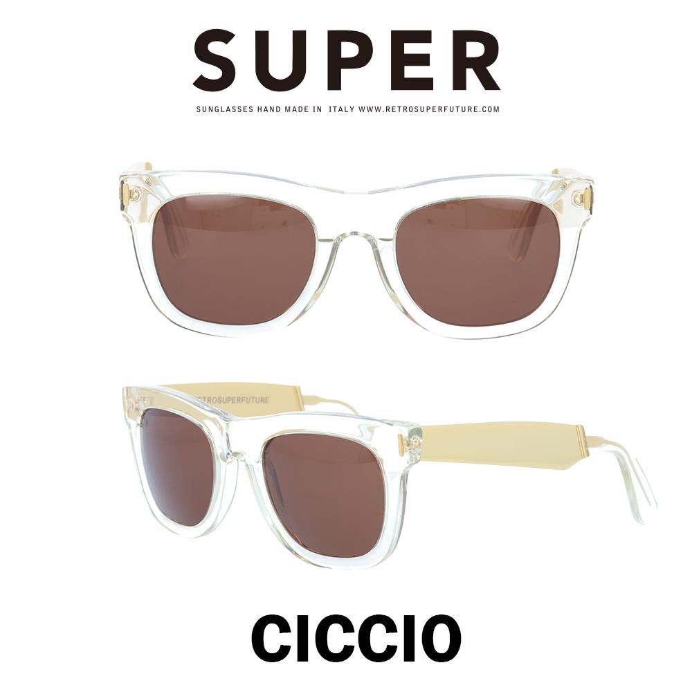 SUPER(スーパー) サングラス チッチオ Ciccio 894 クリスタル/ゴールドメタル/ブラウン