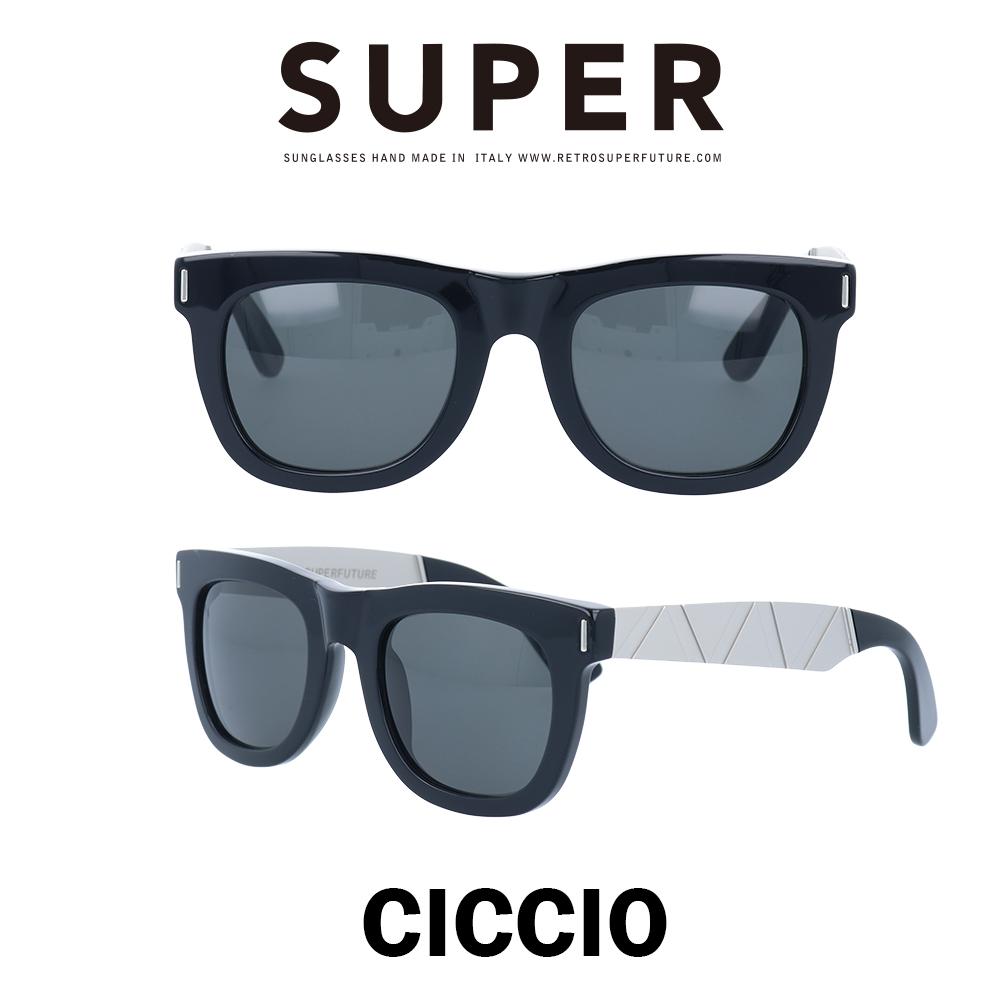 SUPER(スーパー) サングラス チッチオ Ciccio X6L ブラック/シルバーメタル/ブラック