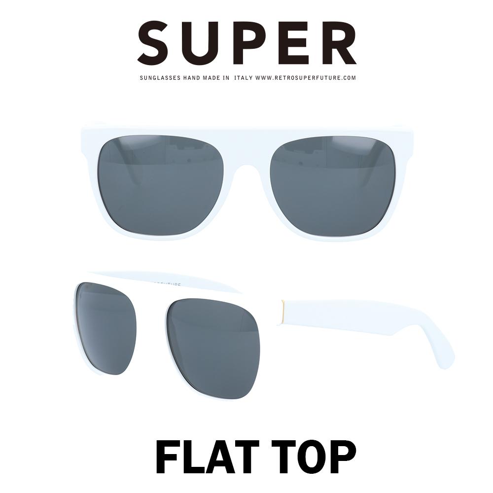 SUPER(スーパー) サングラス フラットトップ Flat Top 035 ホワイト/ブラック
