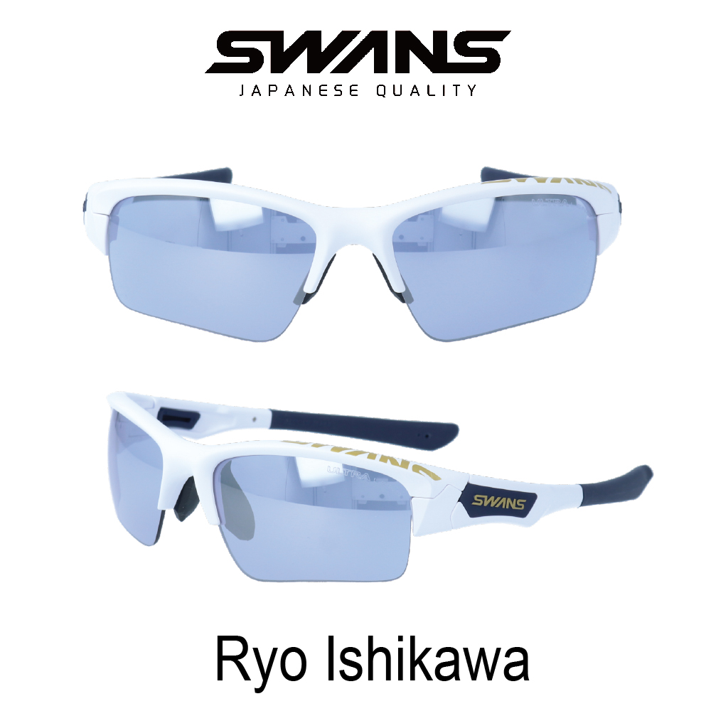 Swans(スワンズ) サングラス SPB-0714-RI19 石川遼限定モデル Springbok スプリングブック ウルトラレンズ 偏光ULレンズ付き ゴルフ