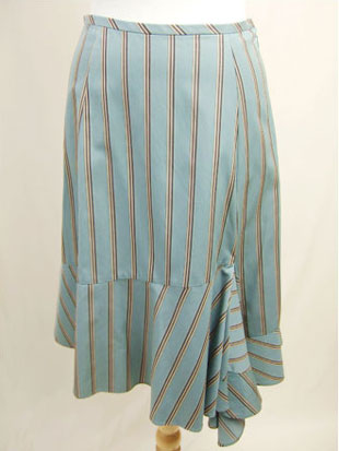 【 SALE・送料無料 】 Un-Demi(アンドゥミ)ストライプスカート