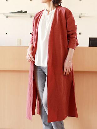 【 送料無料 】Munich(ミューニック)コットン&リネン 着流しコート【 レビューキャンペーン対象商品 】