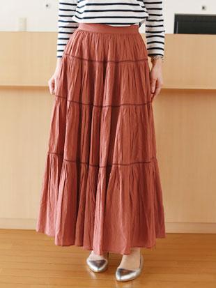 【 送料無料 】MICA&DEAL(マイカ&ディール)インディアコットンローン ティアード スカート【 レビューキャンペーン対象商品 】
