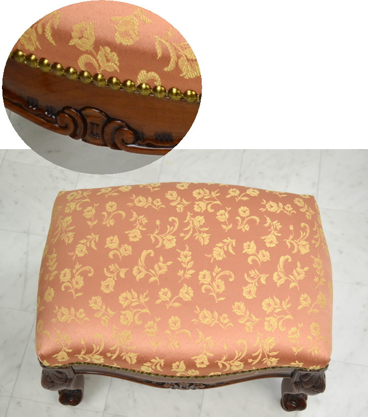 Made In Italy Footstools Wood Pink Floral (chair Chair Chair Chair Legs Put  Helpful Clawfoot Classic Classical Antique European Import Furniture Luxury  Gift ...