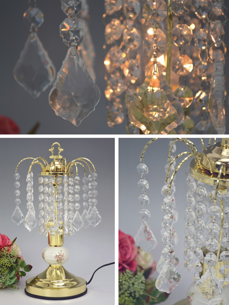 chandelier table lamp touch sensor antique lamp clear desk lamp gold glass crystal fashion classic - Chandelier Table Lamp