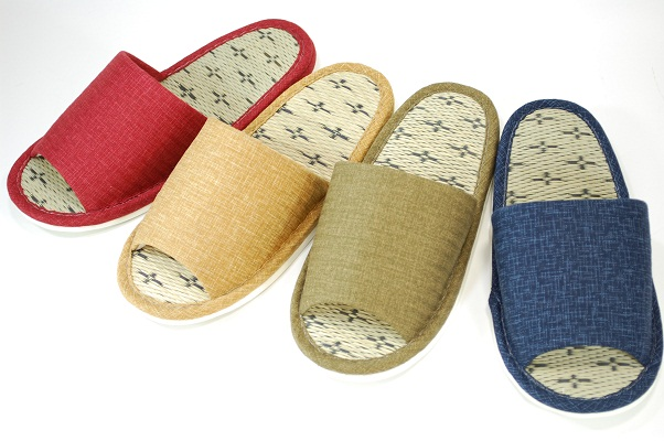 d47300620 female ( S F size) Japanese-style plain Goza in slippers red yellow green  blue 4-color
