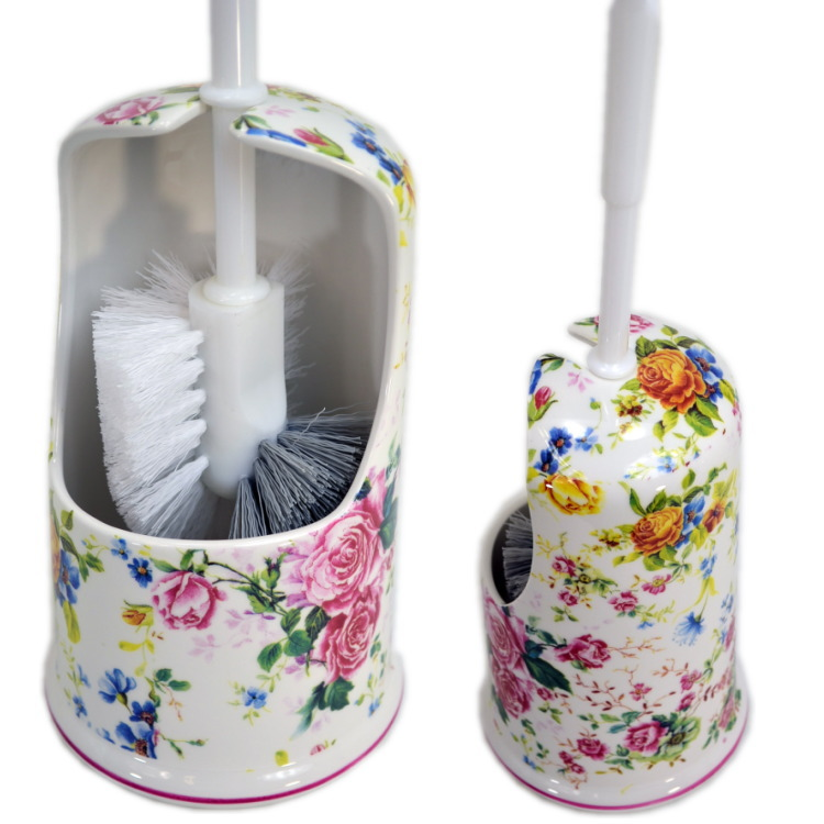 Ceramic Toilet Brush Holder Florets Rose Holders Roses Pun