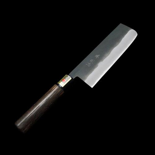 ●【送料無料】【八内刃物/YAUCHI】【堺剛志作】野菜切り包丁 菜切(黒) 165mm