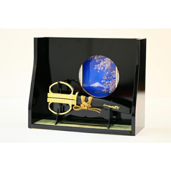 ●【送料無料】【ニッケン刃物】JP-180W ミニチュア和室・日本刀はさみセット JAN:4945569765969