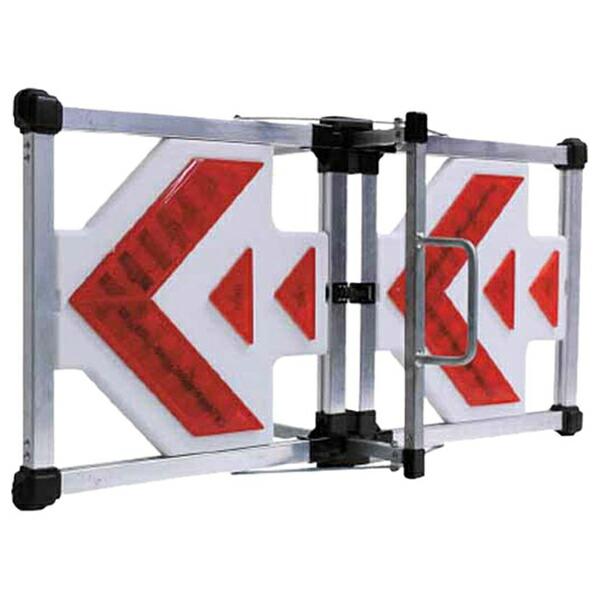 【送料無料】【ミツギロン】LE-10 LED 方向板 DX センサー付 JAN:4978684800604 【路上安全用品/区画整備用品/道路保安用品/】