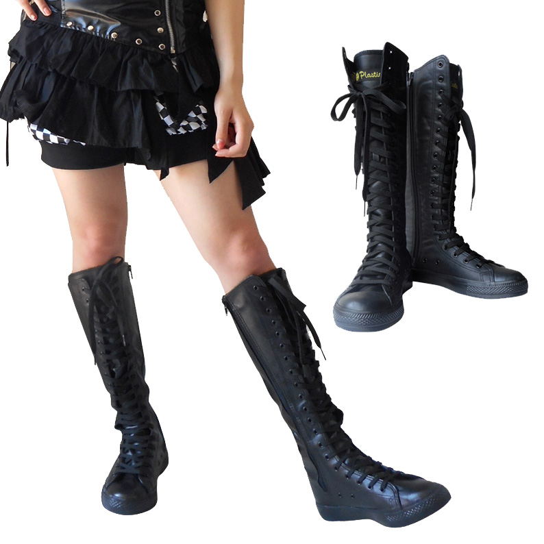 81549573e0981 Is cosplay boots layer crossdressing Knight Prince like Takarazuka knitting  lace-up iarasann Taisho Roman Costume boots Gothic Womens mens kids ...