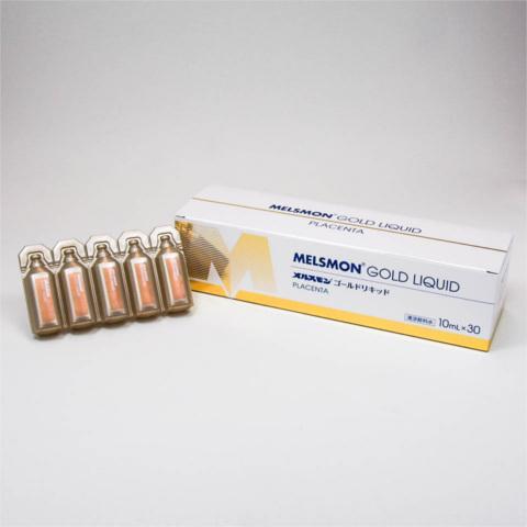 【送料無料】メルスモン ゴールドリキッド 10mL×30本プラセンタ 原液 ドリンク メルスモン社 飲むプラセンタ豚由来 ヒアルロン酸 国産 日本製