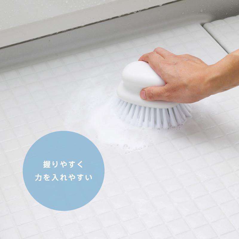 マーナ お風呂のブラシ ホワイト (W601W)  MARNA マーナ バス用品 掃除用具 タイル お風呂 ブラシ