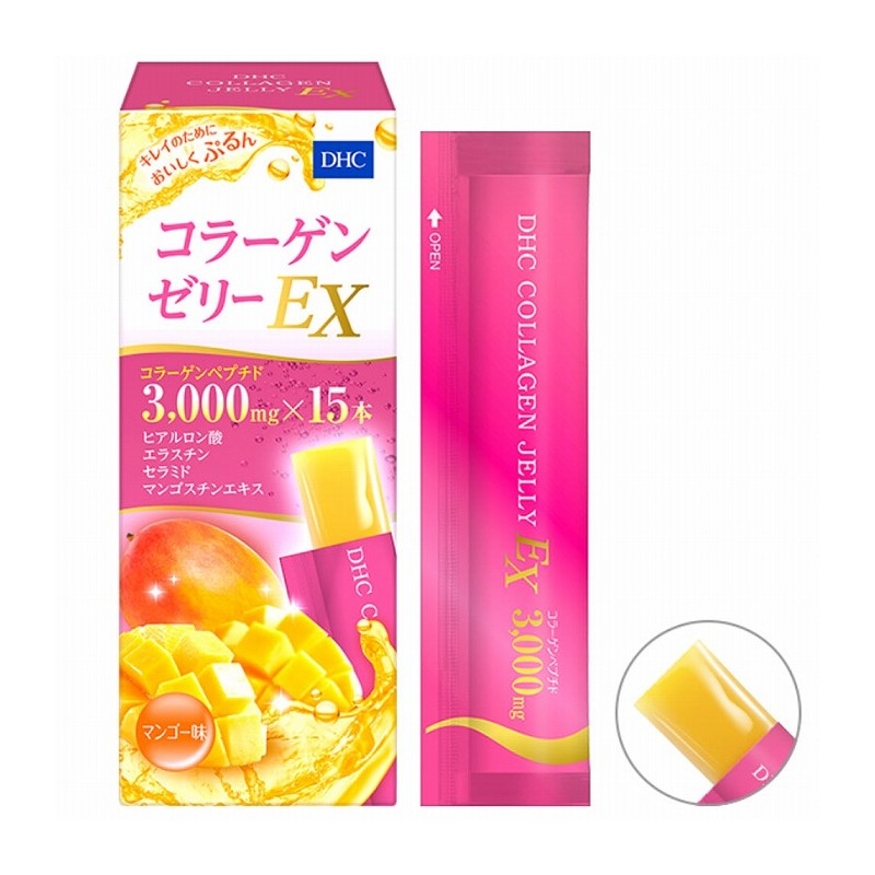 DHC collagen jelly EX mango taste 15 sachet