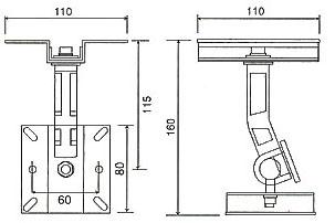 SPB-65Nスピーカー取付金具 BRACKET天井ぶら下げ式金具 スピーカーブラケット(2本1組)