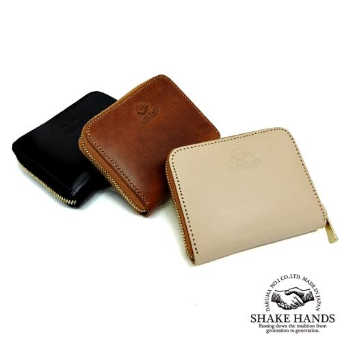 【SHAKE HANDS】シェイクハンズ SHCW-TRE/サドルプルアップレザー/ナチュラルダブルバット/ラウンドジップコインケース/本革/レザー/財布/小銭入れ