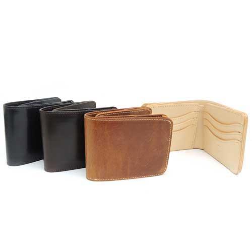 【SHAKE HANDS】シェイクハンズ SHSW-TRE/サドルプルアップレザー/ナチュラルダブルバット/ショートウォレット/本革/財布/二つ折り財布/コイン無し