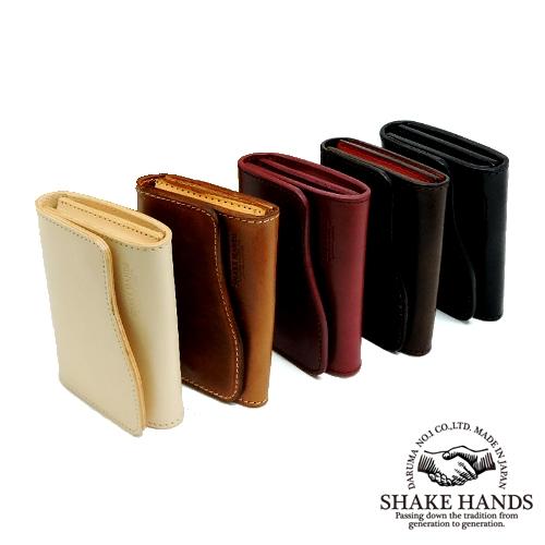 【SHAKE HANDS】シェイクハンズ SHCC-DUE/サドルプルアップレザーレザー/ナチュラルダブルバット/カードケース/本革