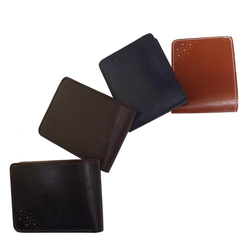 【Cramp】クランプ/池之端銀革店【あす楽】【送料無料】UKブライドルレザー/メダリオン二つ折り財布