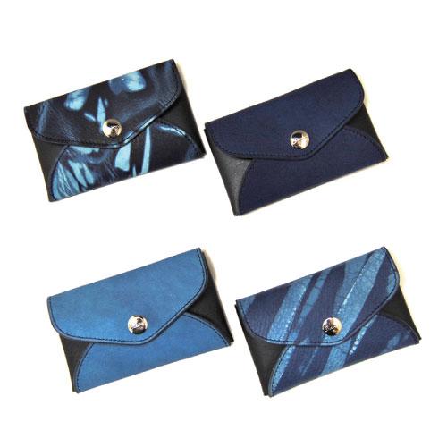 【Cramp】クランプ/池之端銀革店【SUKUMO Leather】SUKUMO×Italian Shrink leather Card Case カードケース/藍染/スクモレザー/カード/名刺入れ