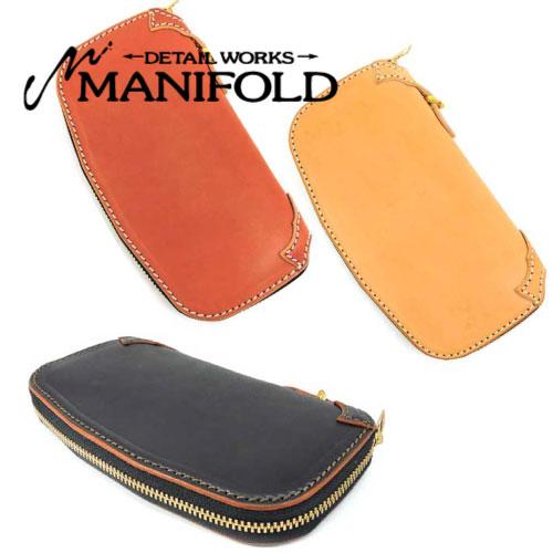 【MANIFOLD】マニフォールド【送料無料】【あす楽】 OWA-21 ラウンドジッパーロングウォレット/マニホヌメ(昔ながらの鞣し)長財布/ロング/