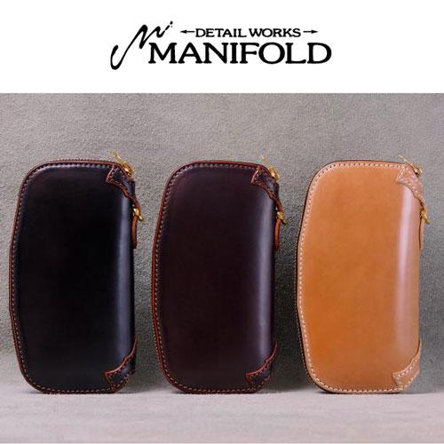 【MANIFOLD】マニフォールド【送料無料】【あす楽】 OWA-17-CO /コードバン/ラウンドジッパーロングウォレット