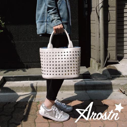 【Arostn】アロスタン【あす楽】【送料無料】トートバック/スモール/スタッズ/男女兼用