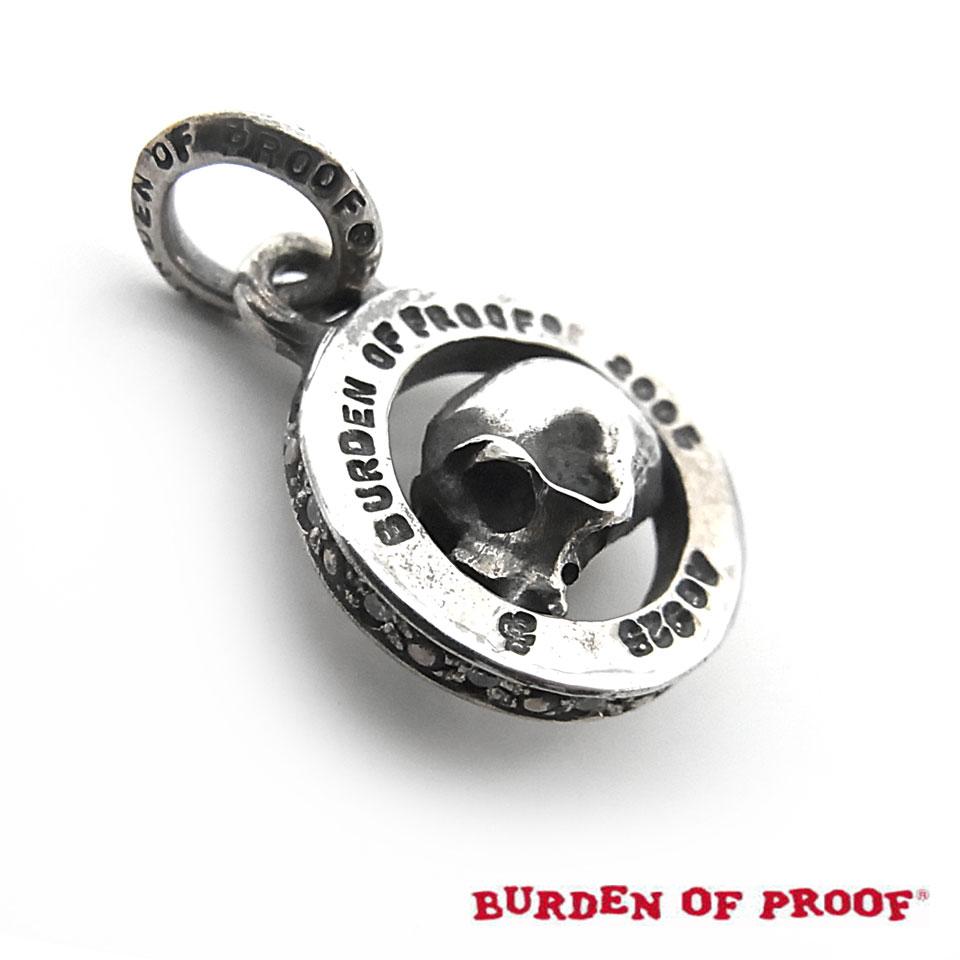 【BURDEN OF PROOF】バーデンオブプルーフサークル・スカルペンダント/CZ