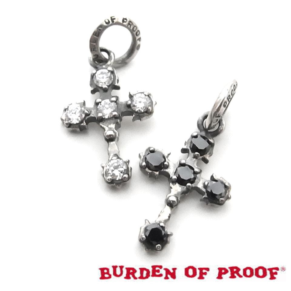 【BURDEN OF PROOF】バーデンオブプルーフミドルクロスXSシルバーペンダント/CZ