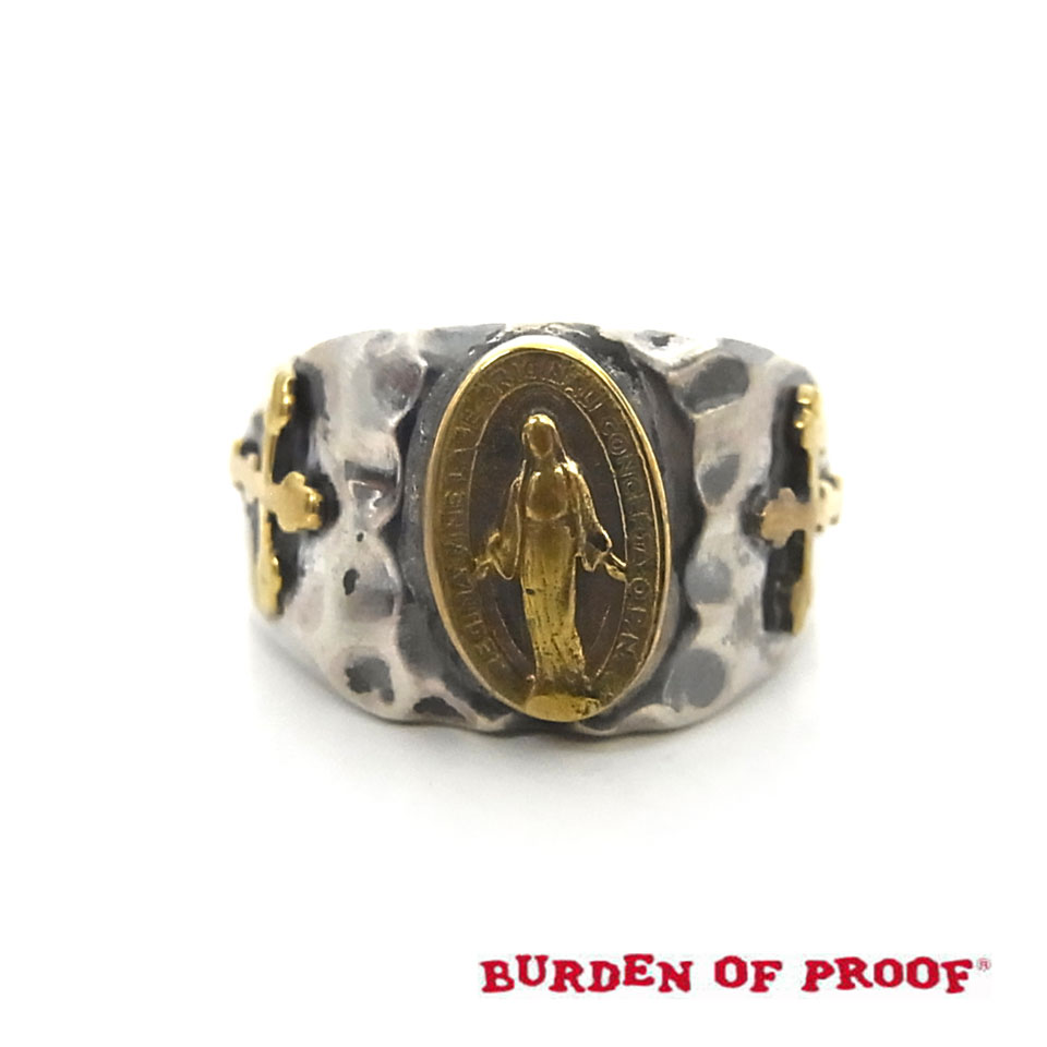 【BURDEN OF PROOF】バーデンオブプルーフメキシカン・マリアリング/シルバー×真鍮