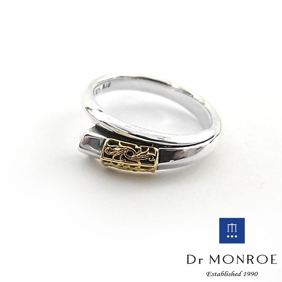 【Dr MONROE】ドクターモンロー シルバー ユニセックス&ペアリング対応/18Kゴールドプレート/ラージ