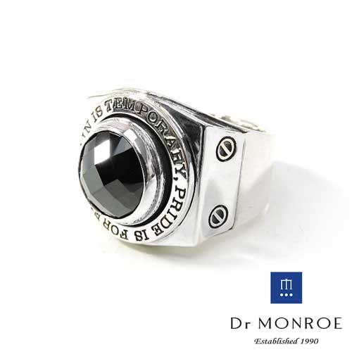 【Dr MONROE】ドクターモンロー シルバーメンズリング FC-137SE-SV/ブラックCZ