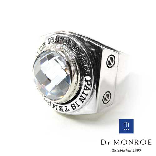【Dr MONROE】ドクターモンロー シルバーメンズリング FC-137SE-SV/クリアCZ